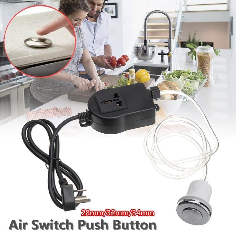 Home Appliance Parts Bath Tub Spa Waste Garbage Disposal Self-lock Air Switch Push Button Air Hose