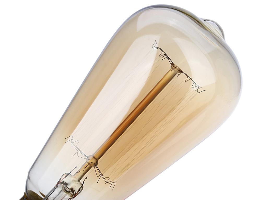 Lightme 6pcs ST64 230V 40W E27 110 - 120LM 19AK Retro Edison Bulb Tungsten Filament Light Bulb