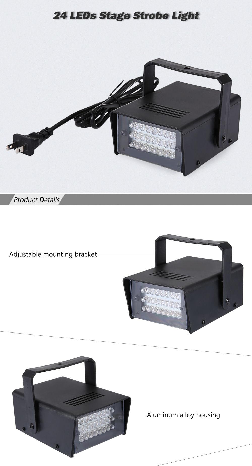 Buy Generic Mini Ac 90 240v 3w 24 Leds Stage Strobe Light Best Adjustable 20160815152630 97442 40555
