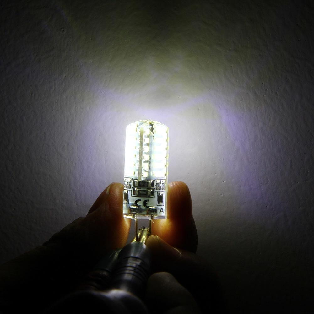 10pcs 1.5W G4 Base 48 LED Lamp DC 12V White Light Undimmable 360 Degrees Beam Angle