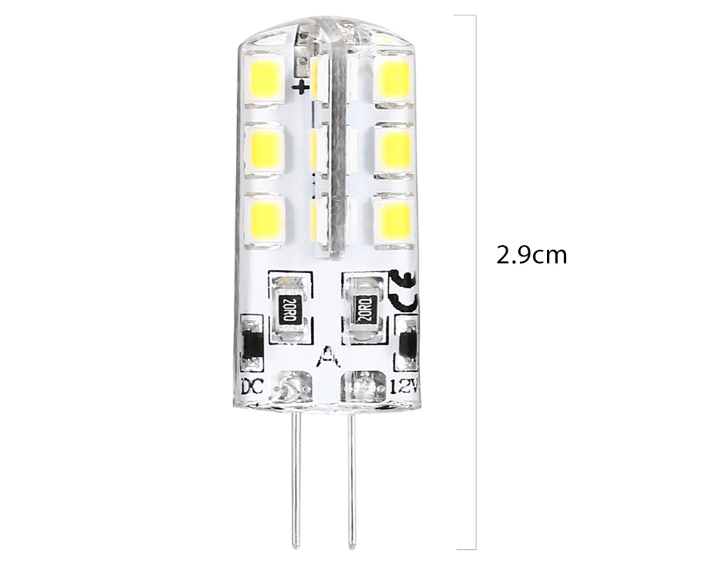 Lightme 10PCS DC 12V 2W G4 SMD 2835 LED Dimmable Lamp Bulb Spotlight with 24 LEDs