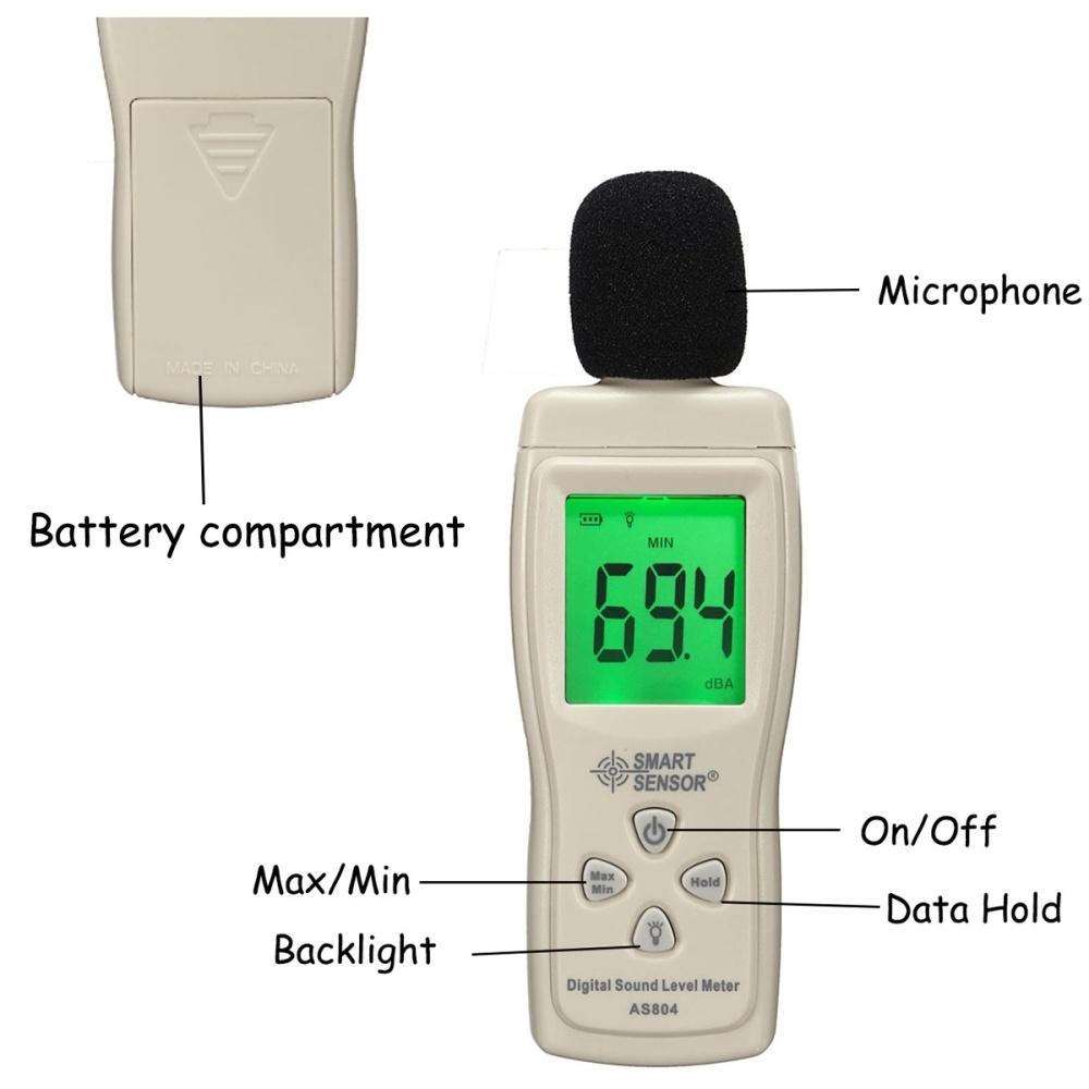 Buy Generic Mini Sound Pressure Tester Level Meter Digital Decibel 1 X Image