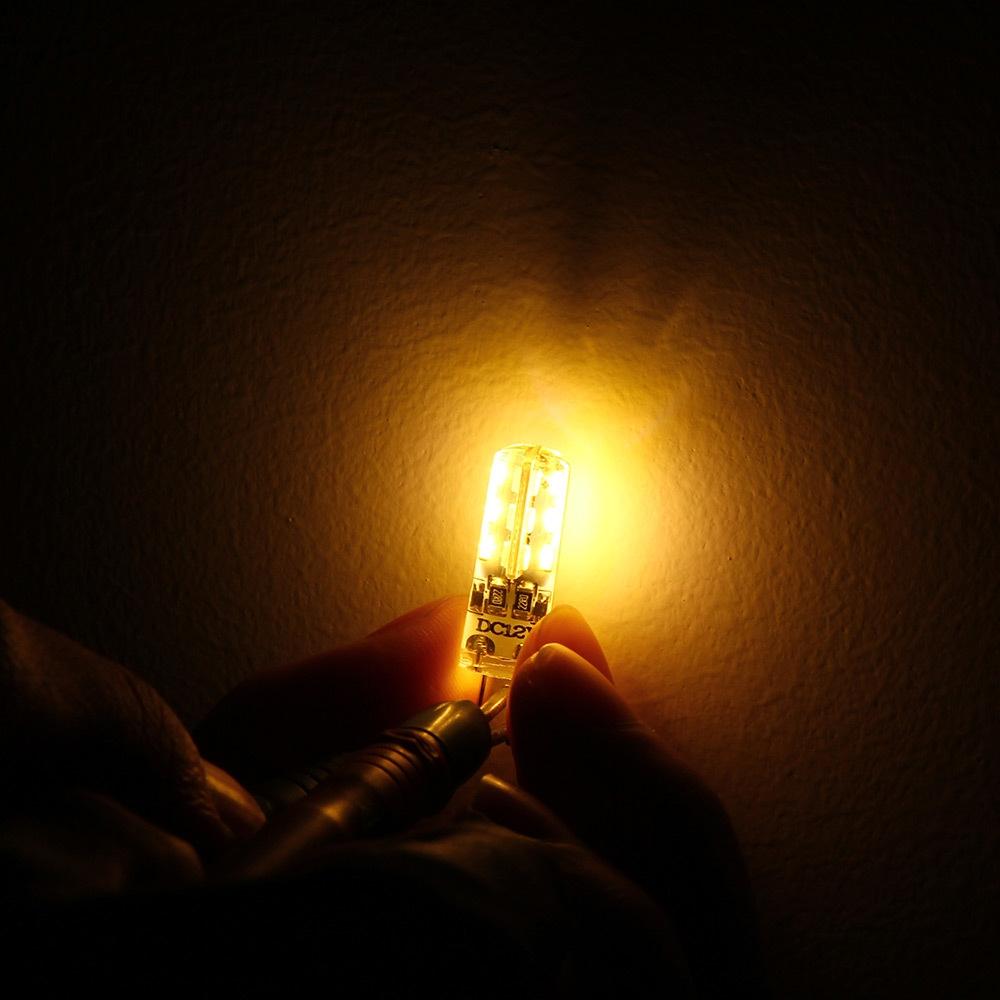 1W 20pcs G4 LED Lamp DC 12V Bulb SMD 3014 Warm White Light 360 Degree Angle Spotlight