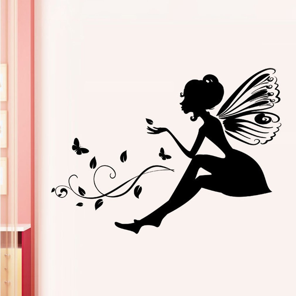Buy Generic Pvc Beautiful Flower Fairy Wall Sticker Special