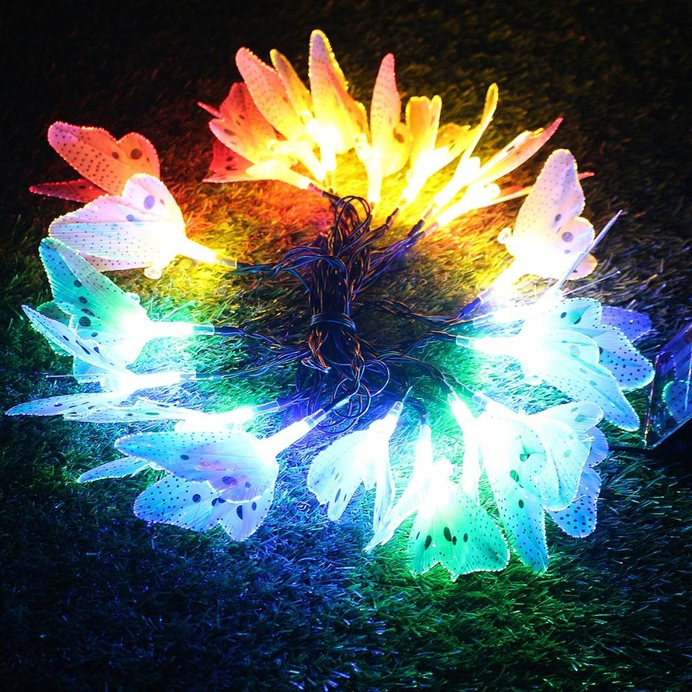 Buy Generic 20 LED Solar Butterfly Colorful String Fairy Lights ...