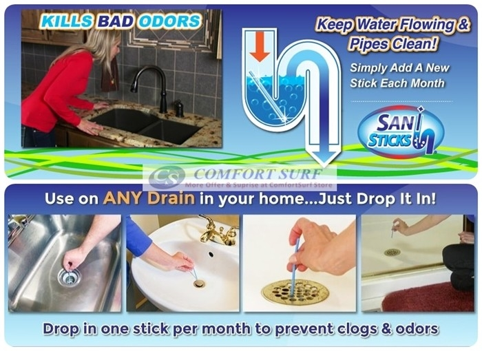 Sani Sticks As Seen on TV Drain Cleaner stick and Deodorizer 12pcs