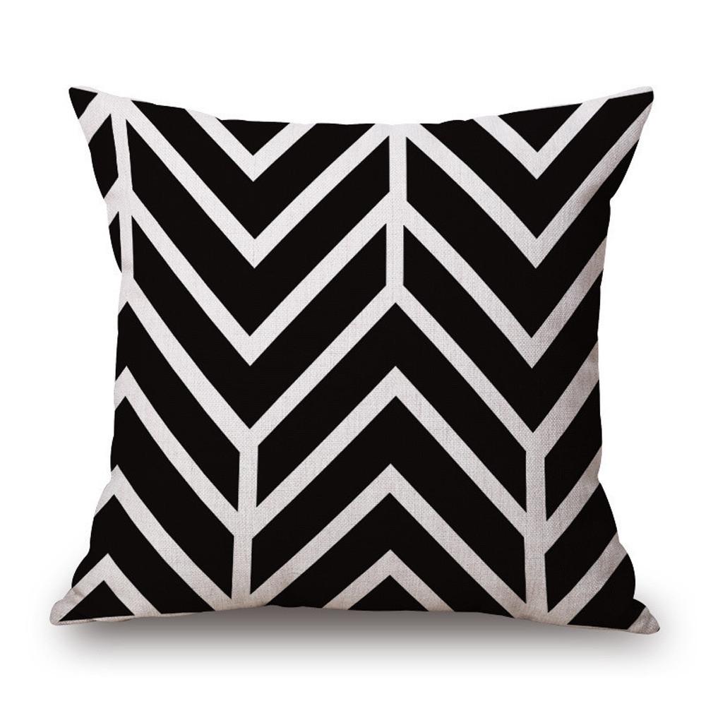 Cushion cover cotton linen throw pillow case square pillowcase