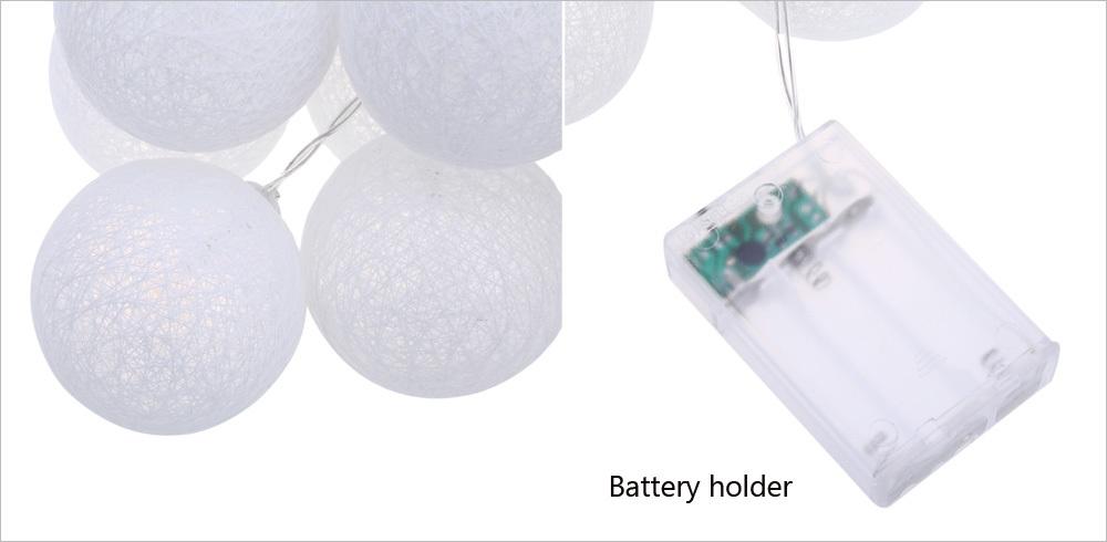 20PCS Creative Cotton LED Ball String Lights for Banquet Decoration Ornament