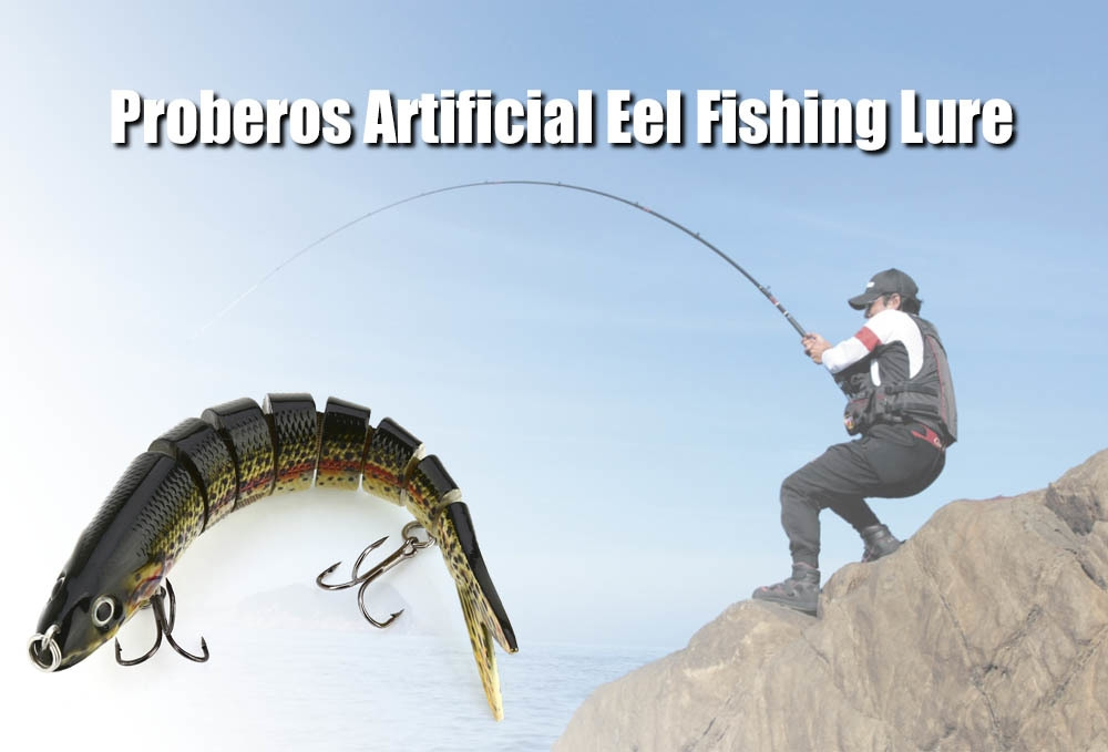 Proberos Artificial Sections Eel Tackle Fishing Lure with Sharp Hooks