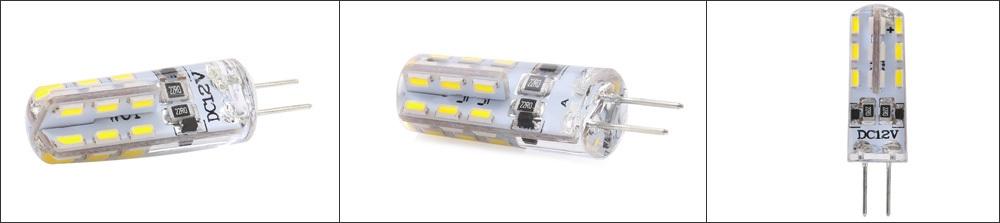 Lightme 10PCS G4 DC12V 1.5W SMD 3014 LED Dimmable Bulb Spotlight with 24 LEDs