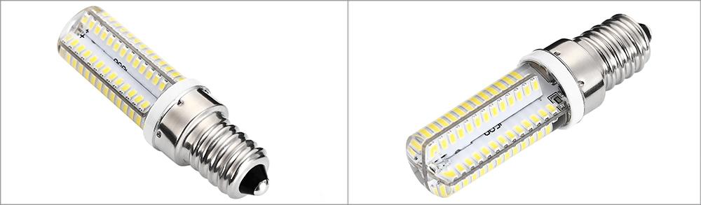 Lightme 10PCS AC 220V 5W E14 SMD 3014 LED Lamp Bulb Spotlight with 104 LEDs