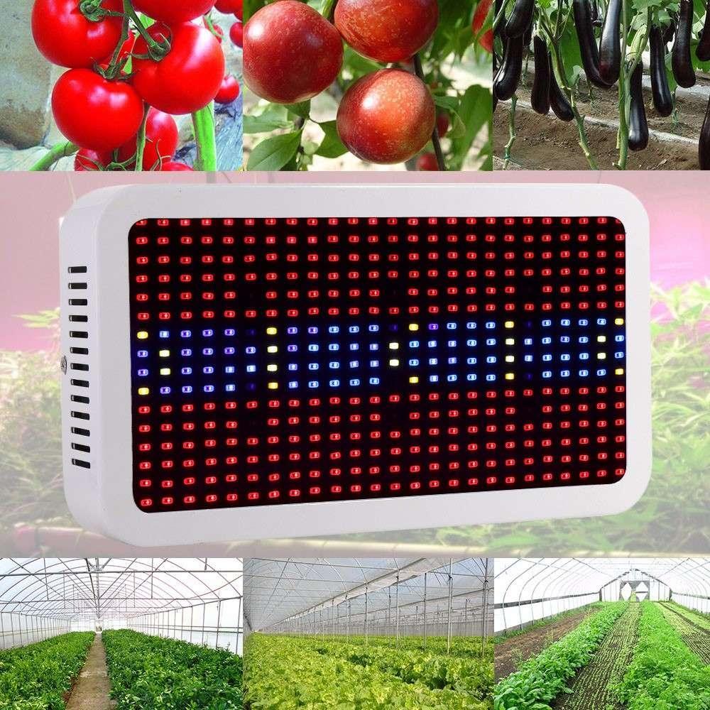 400W ( True 140W ) LED Plant Grow Light Panel Full Spectrum Lamp Square Shape for Hydroponics Indoor Seedling