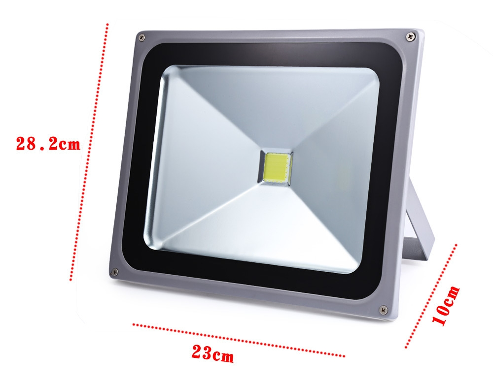 AC 85-265V 50W ( True 35W ) Outdoor LED Flood Light Waterproof 6000K-6500K 4800 Lumens Security Projection Lamp