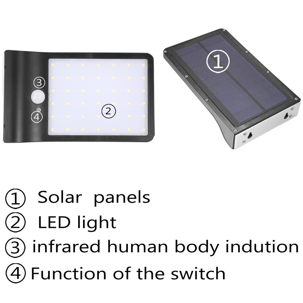 Buy Generic Hontai Solar Motion Sensor Light 42led 550lumens Max No Wiring Wall Lamp Outdoor Led Is Perfect For Paths Decks Gardens Etc 6 Intelligent Energy Saving 7 Easy Installation Required Simply Screw