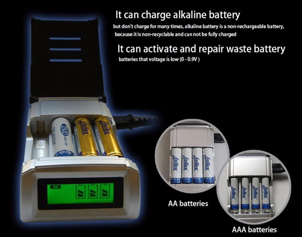 Palo NC05 4 Slots LCD Charger for AA / AAA NiCd NiMh Batteries