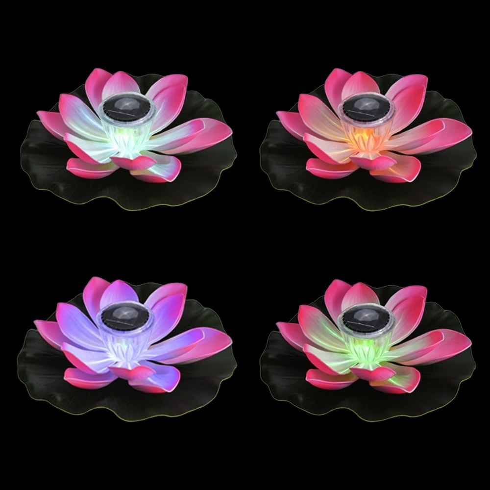 Buy generic hontai 01w solar powered multi colored lotus flower this solar powered colorful lotus flower lamp can make your makes your pond and garden looks elegant and vibrant all the time with its vivid lotus shape and izmirmasajfo