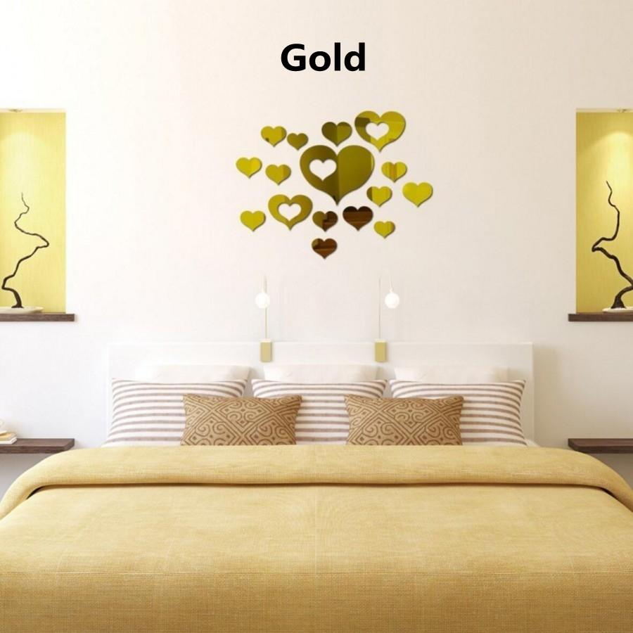 Buy Generic Creative DIY 3D Artistic Wall Sticker Mirror Surface ...