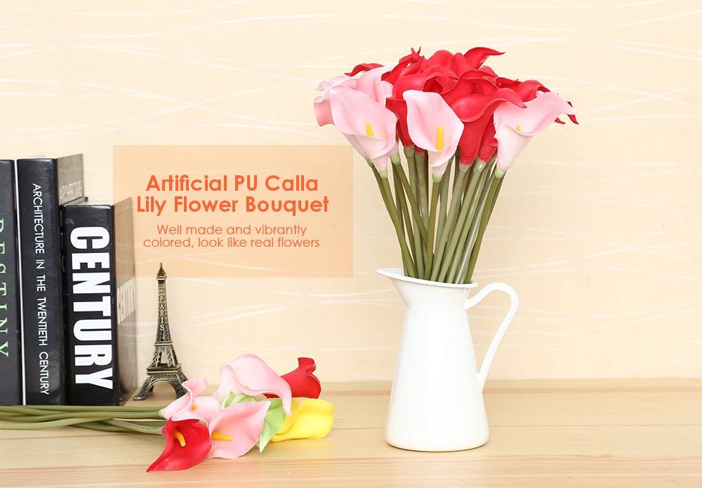 Buy Generic Wedding Decor 20pcs Artificial Calla Lily Flower Bouquet ...