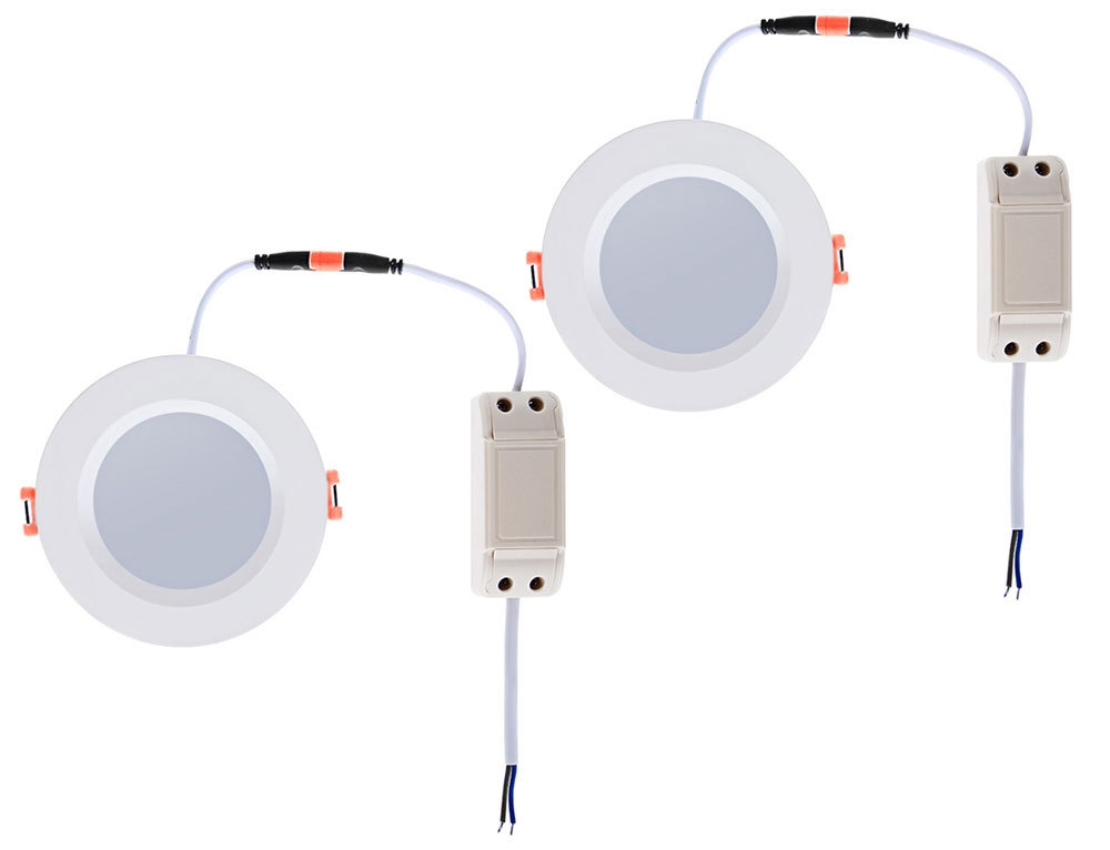 Lightme 2pcs 6 Inch 18W 2700 - 3000K 1400 - 1500LM SMD2835 LED Down Light Energy Efficient Lighting