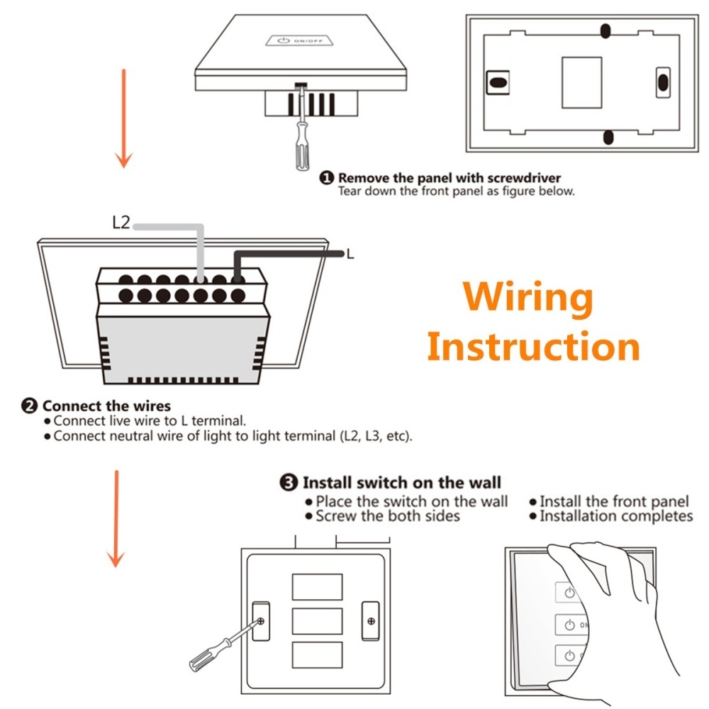 Buy Generic Intelligent Remote Control Smart Touch Switch Panel Light Wiring Diagram Also L Image
