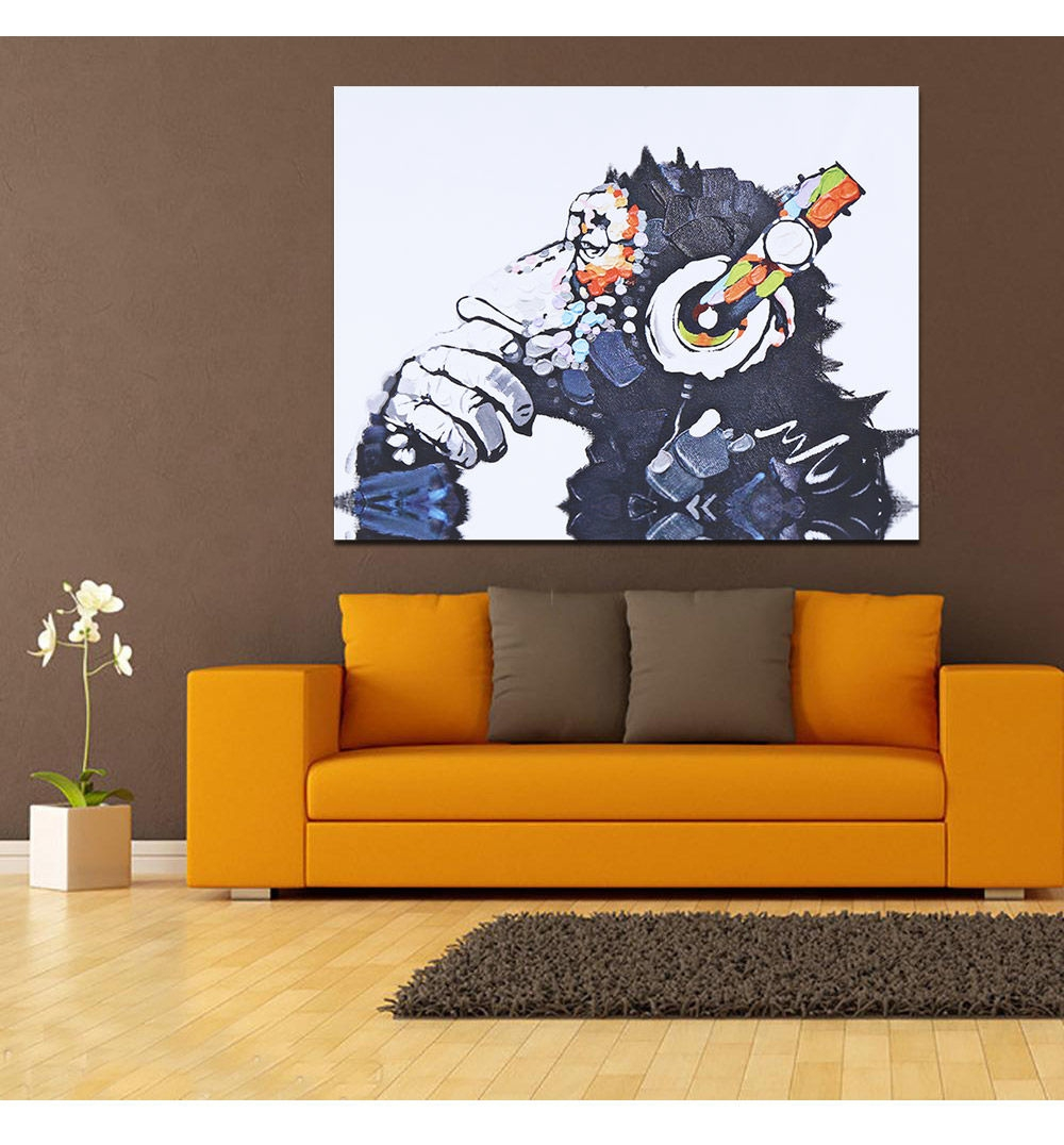 Generic Modern Canvas Painting Chimp Pattern Home Decor 50 X 70cm Buy Online Jumia Kenya