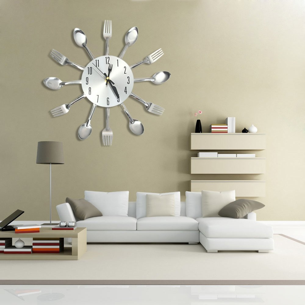 Type Wall Clock Theme Inspirational Style Modern Fashion Time Display Analog Material Stainless Steel Powered By 1 X AA Battery Not Included