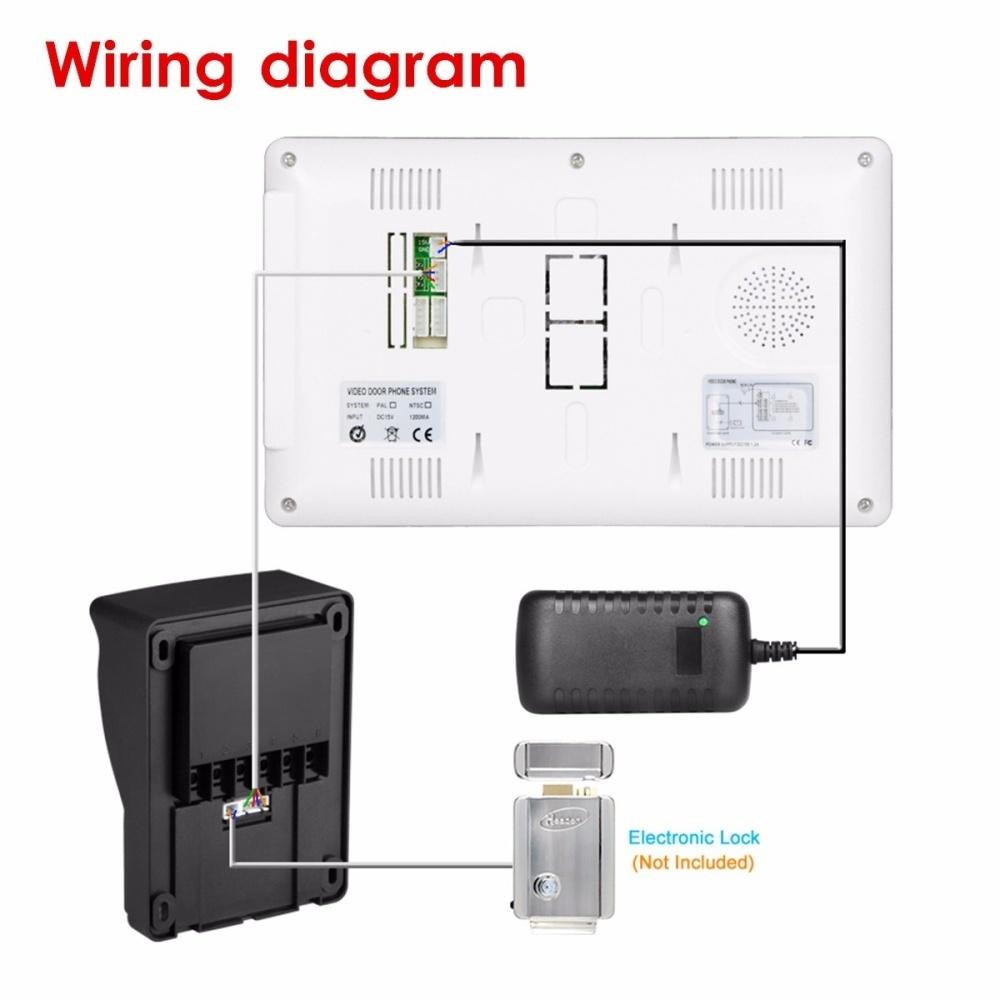 Buy Generic 7 Lcd Video Handfree Intercom Doorbell Ir Camera Tft Wiring Diagram Image