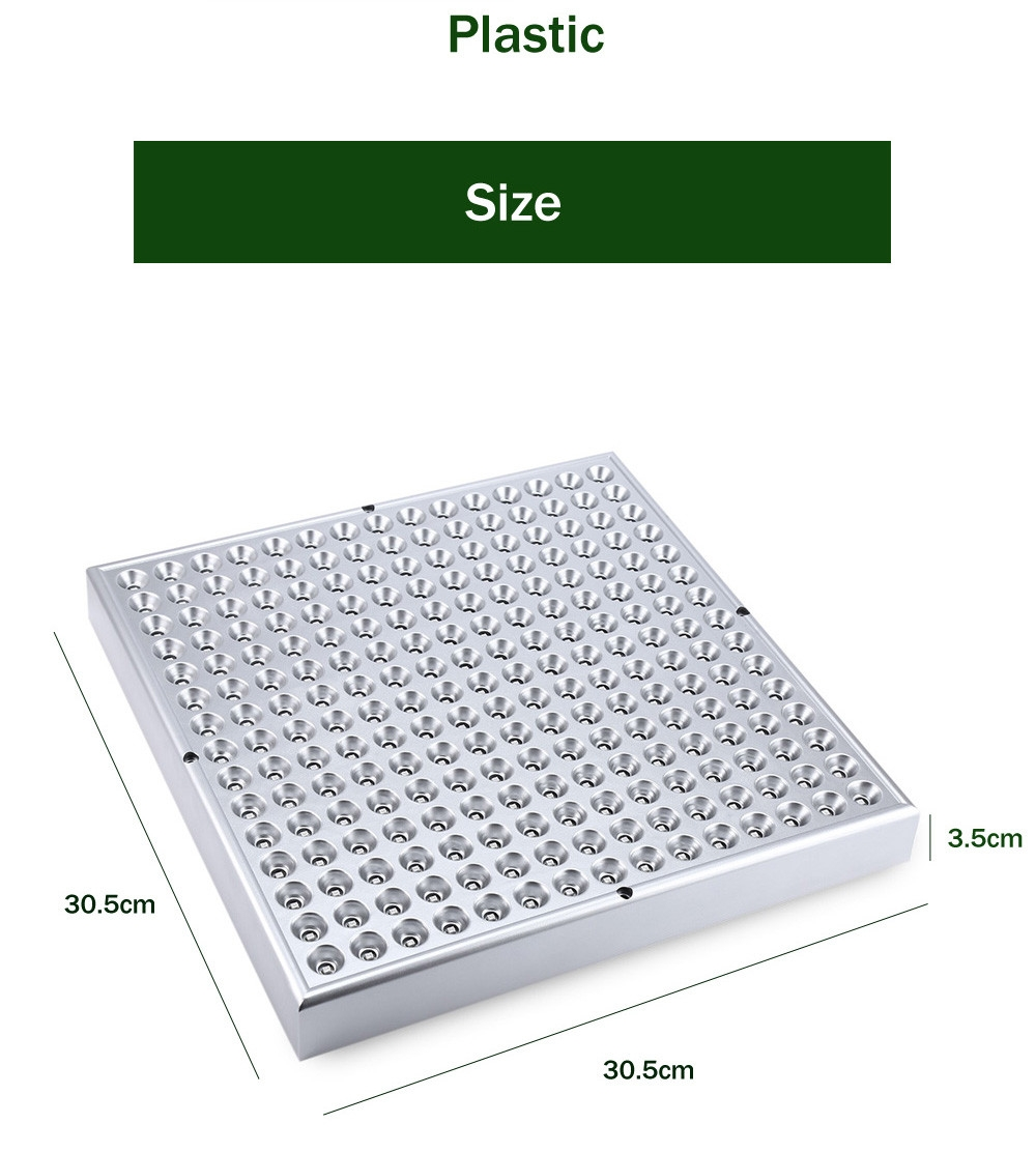 AC 85 - 265V 12W SMD 2835 LED Grow Light Panel Lamp for Hydroponics Indoor Plant with 225 LEDs
