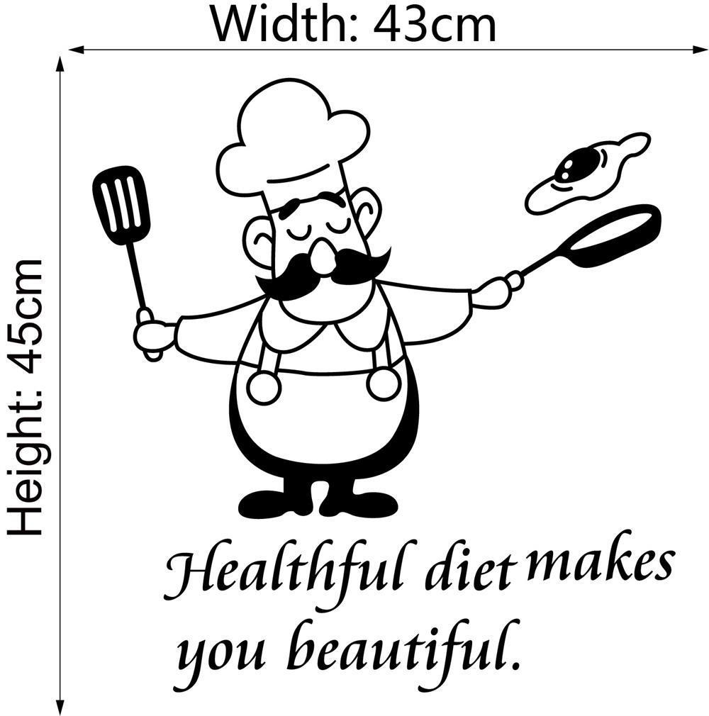 Generic Funny Kitchen Wall Stickers Waterproof Vinyl Decals