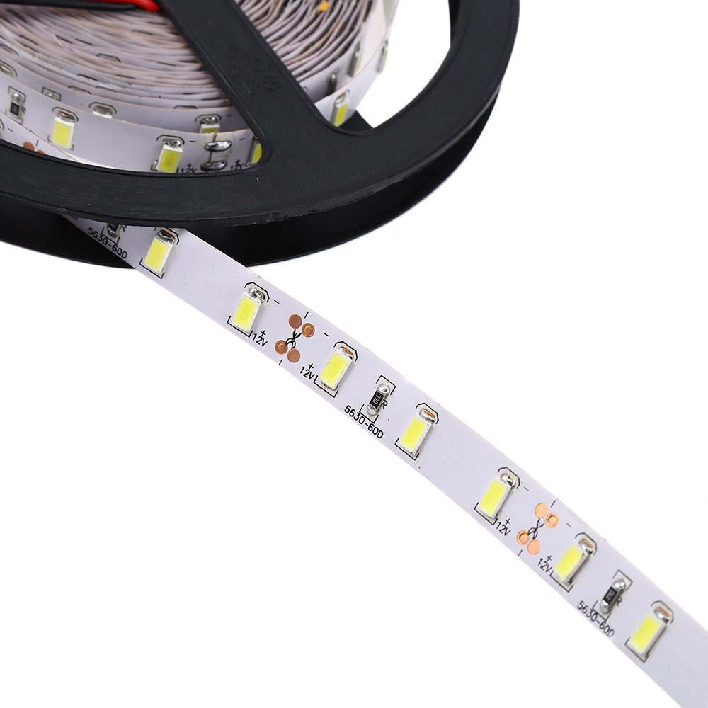 5 Meters 8W 12V 5630 SMD LED Strip Lamp Decoration Light with 60 LEDs