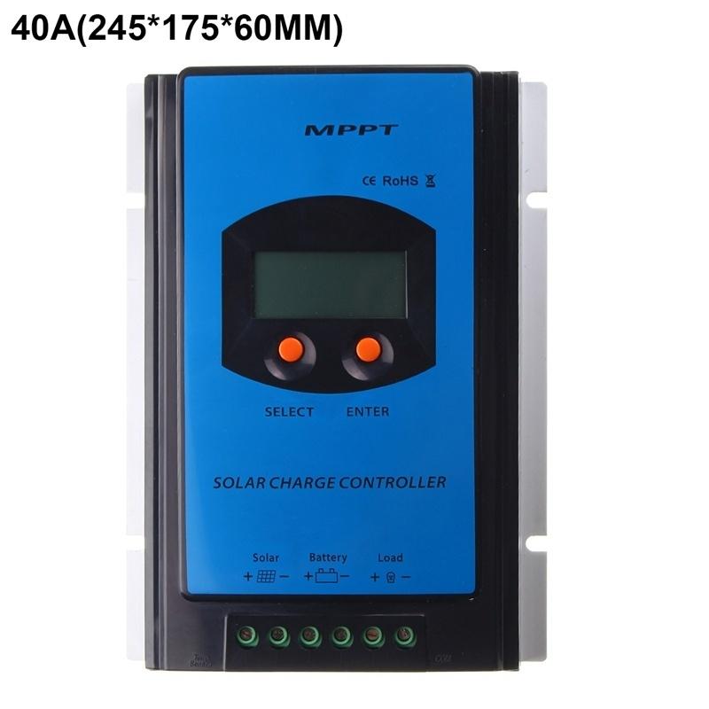 Generic 40A 12V MPPT Solar Panel Charge Controller Battery Regulator