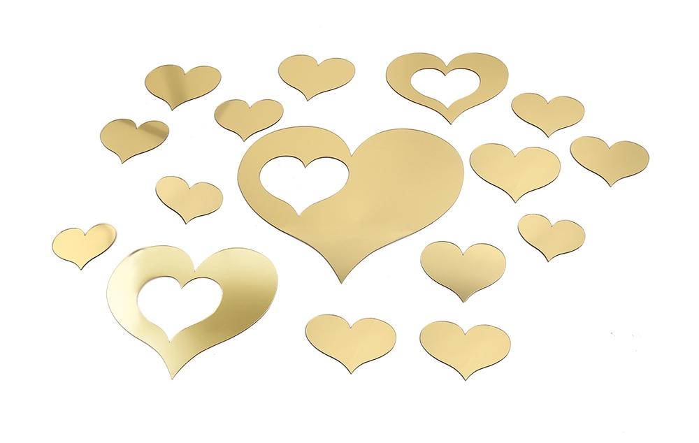 Buy Generic Wall Sticker DIY Heart Shaped Mirror Effect Wall Sticker ...