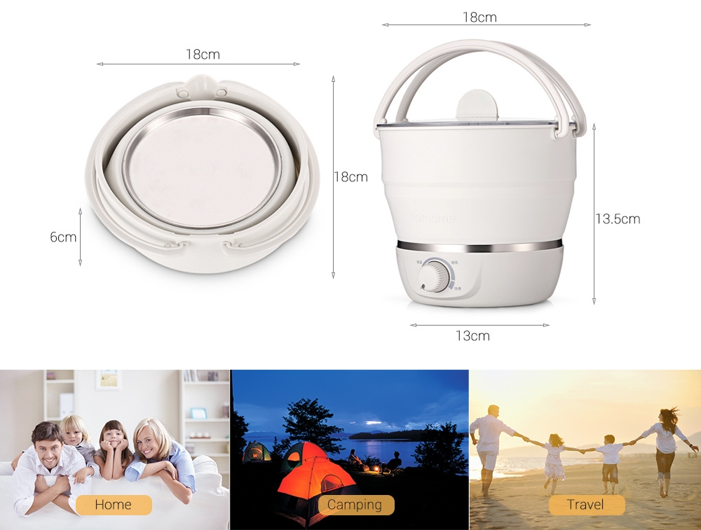 NATHOME Multifunctional Household Travel Portable Foldable Electric Caldron