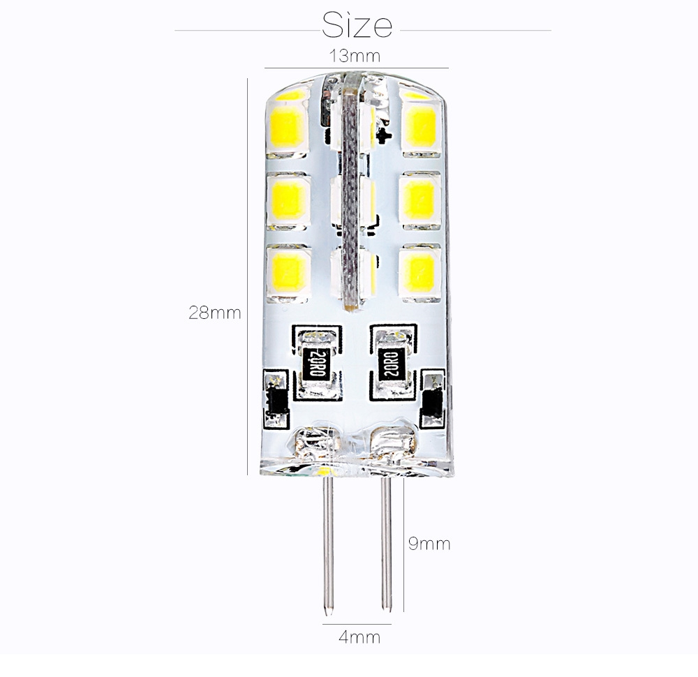 10pcs 1.8 - 2.2W G4 Base 24 LED Lamp DC 12V Warm White Light Undimmable 360 Degrees Beam Angle