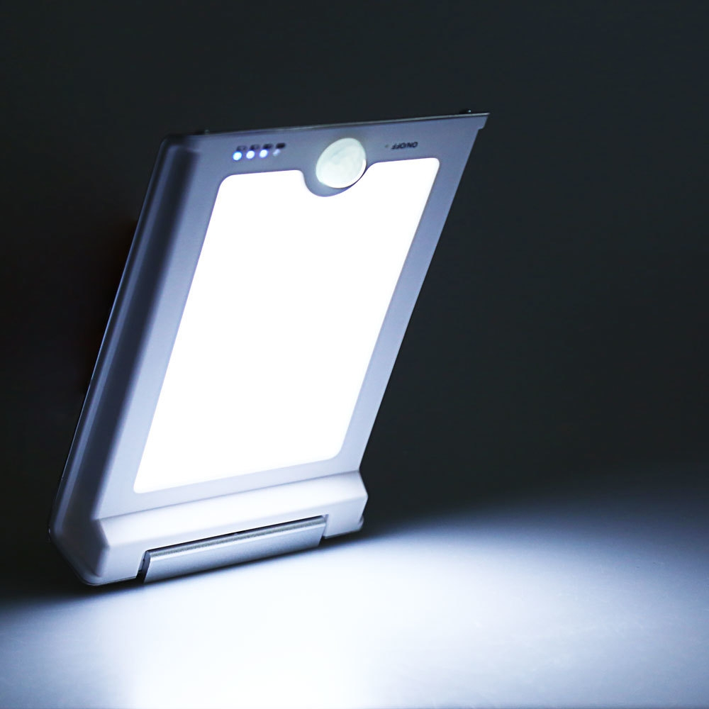 Solar Powered 46 LEDs Human Body Induced Light Motion Sensor Lamp
