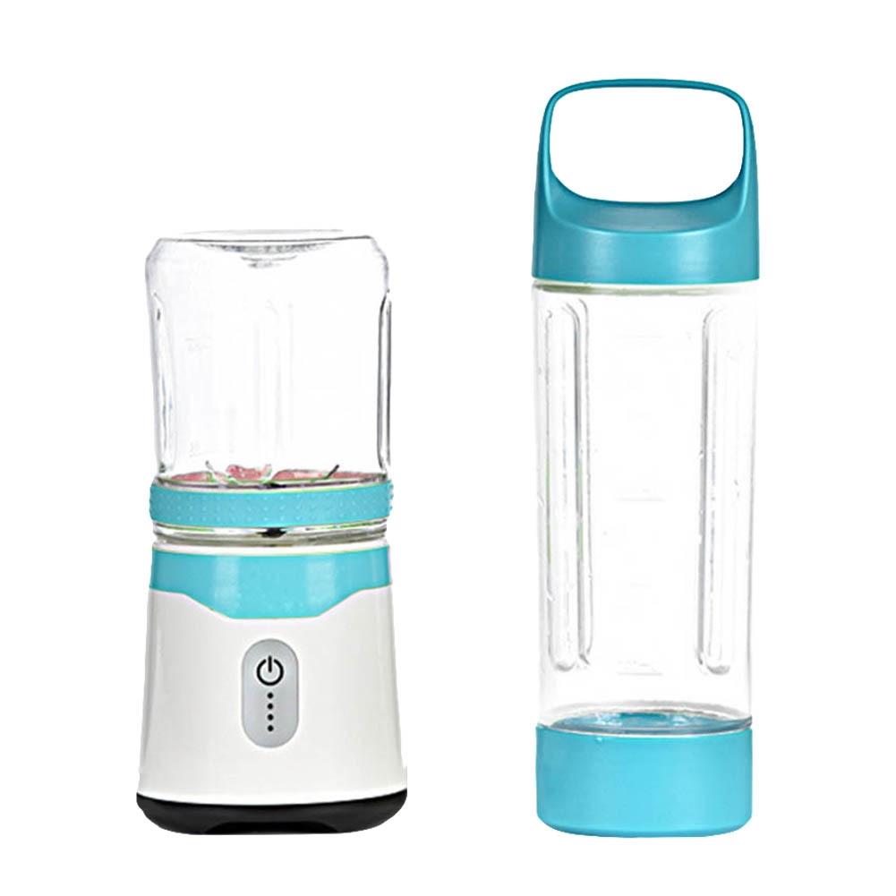 Generic Portable USB Charging Fruit Juicer Baby Milkshakes Smoothies Blender With Juice Cup Fruit Blending Machine Set(Pink)