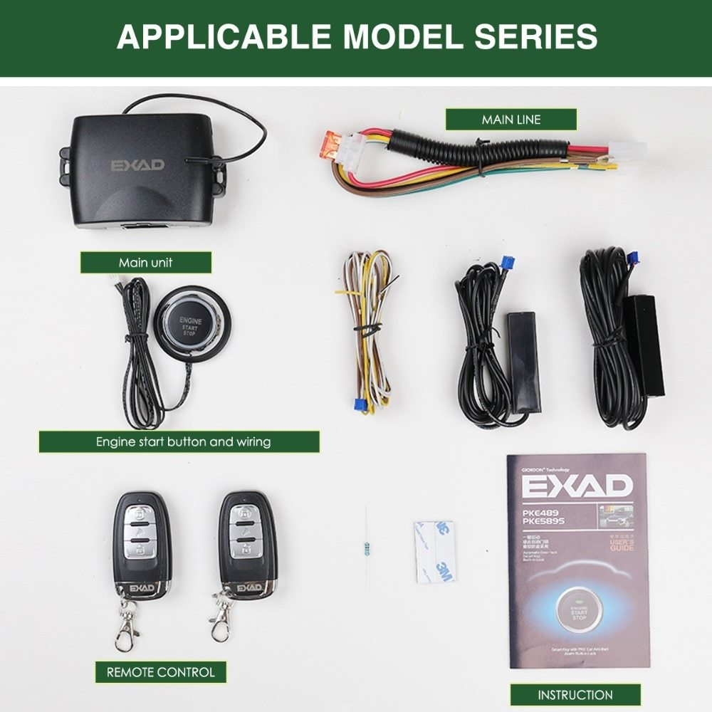 Generic Smart Key Car Alarm System With Stop Push Mobile