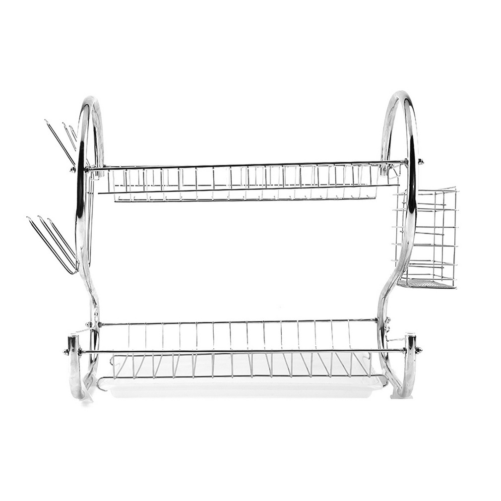 generic 3tier stainless steel dish drainer drying rack red jumia kenya. Black Bedroom Furniture Sets. Home Design Ideas