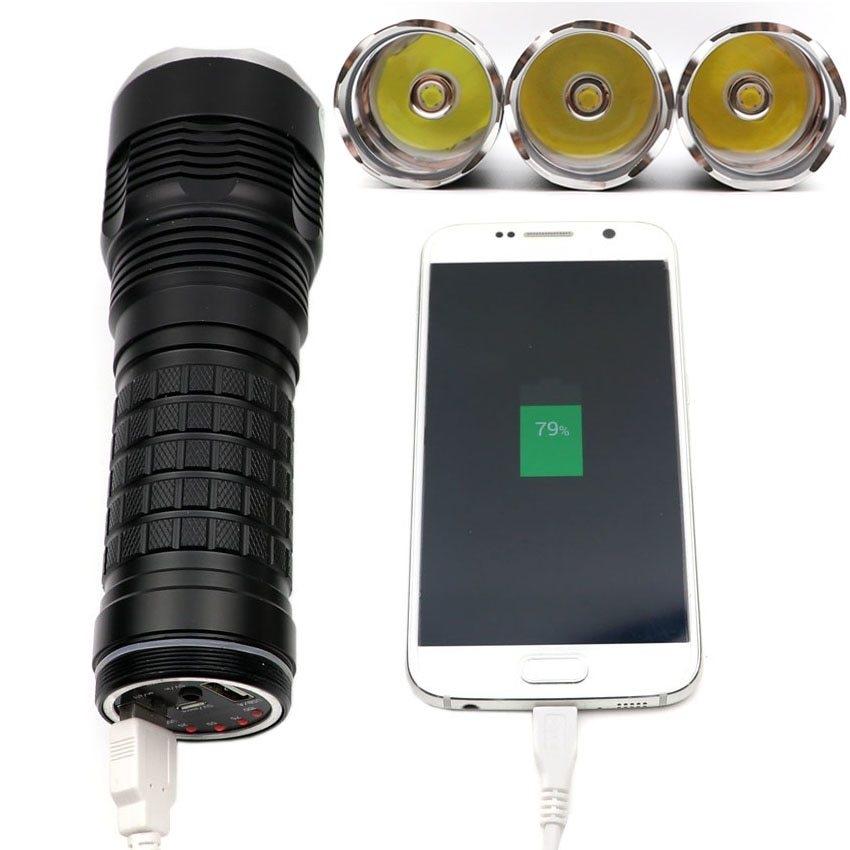 f036b3195d289 Generic JKK36 XHP70 Highlighted 3800Lumens Linterna USB Rechargeable ...