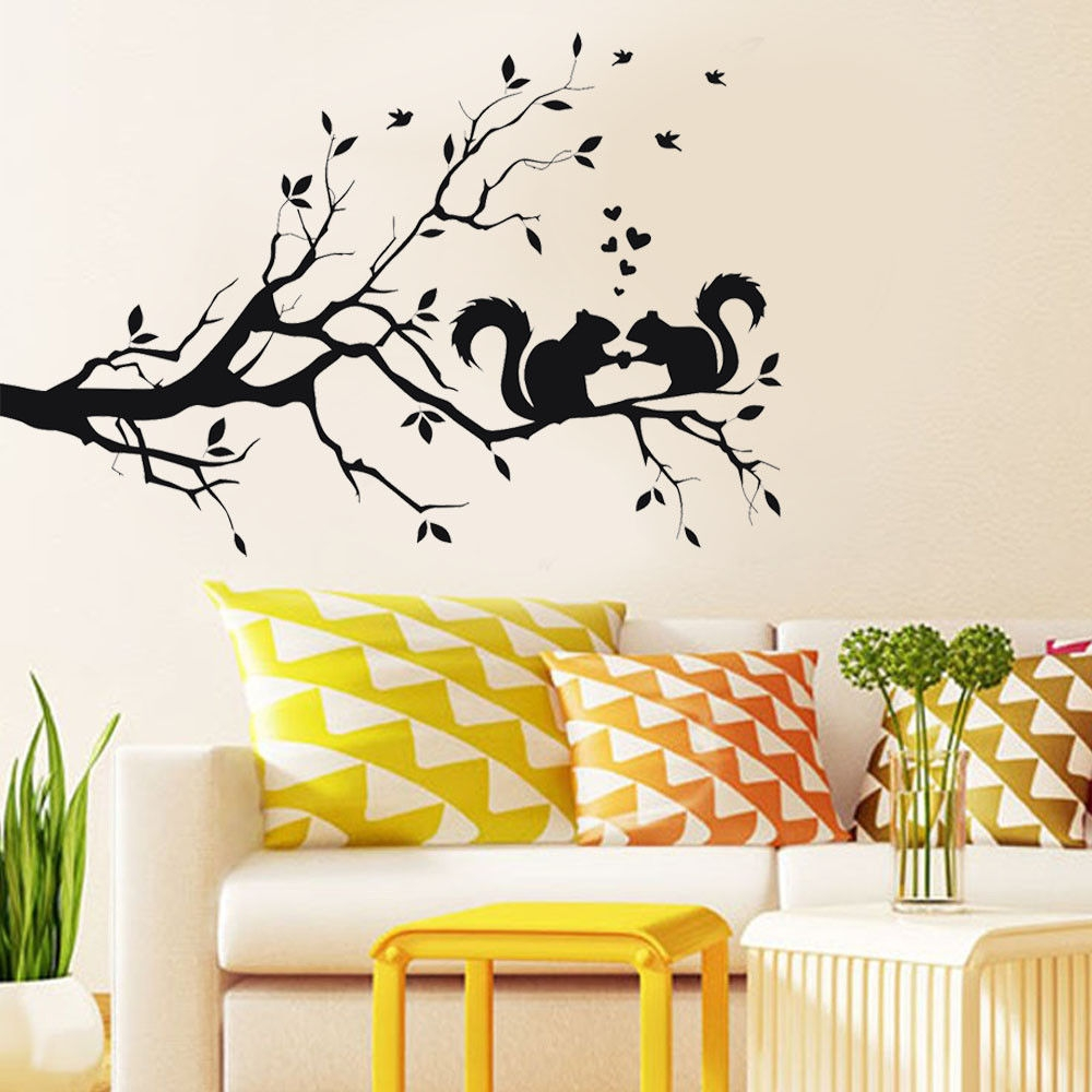 Colorful Wall Art Branches Image - Wall Decoration Ideas - nitmumu ...