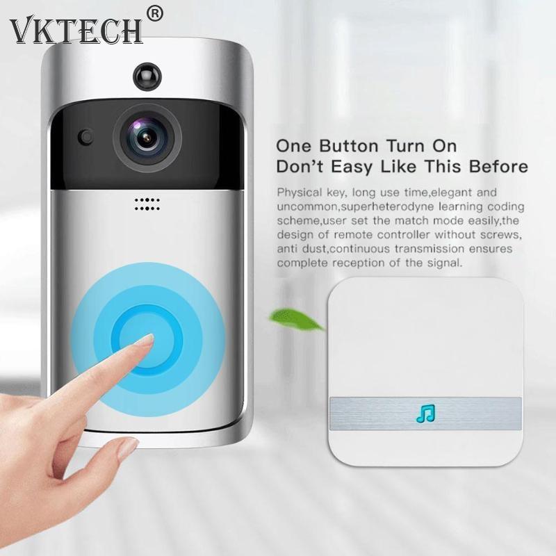 Generic Smart Wireless WIFI Security Doorbell 2 Way Talk 720P Camera