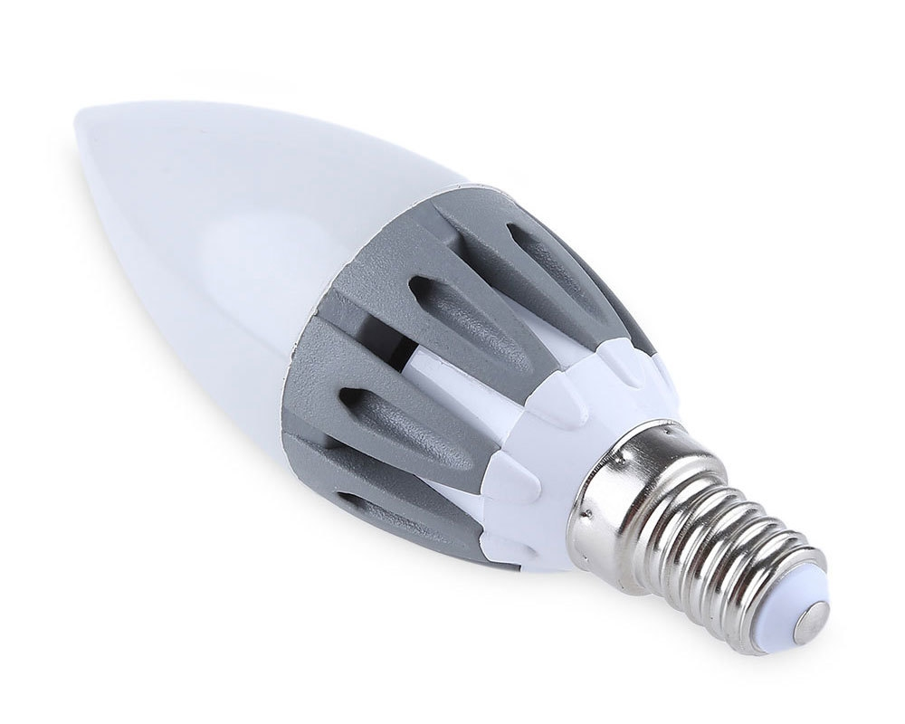 Lightme 5Pcs E14 220-240V C37 3W LED Bulb SMD 2835 Spot Globe Lamps Energy Efficient Lighting
