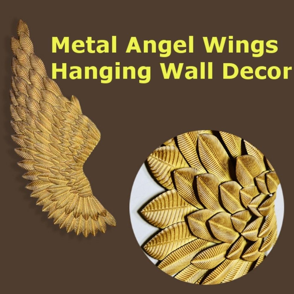 Buy Generic Metal Angel Wings Hanging Wall Decor Rustic Distressed ...