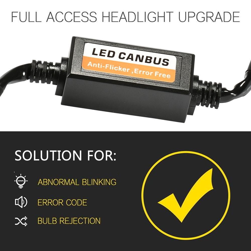 Generic 2pcs Error Free LED Decoder for LED Car Headlight Bulb Kits