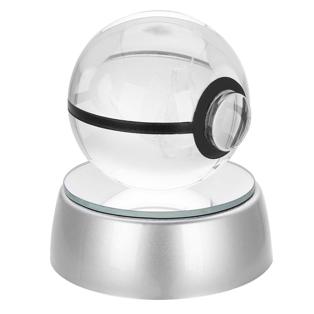 Pokeball Ball Led 3d Generic Pokemon Night Crystal Lamp Pikachu 50mm xeoCBd