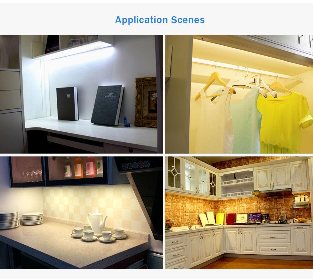 DC 3 - 6V 0.75W 200LM 10 LEDs PIR Infrared Motion Wireless LED Sensor Lighting Closet Cabinet Lamp