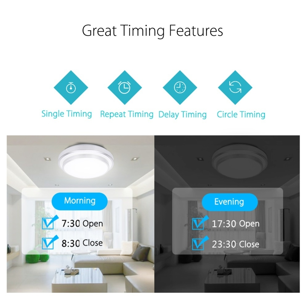 Generic WIFI Smart Timer Wall Light Touch Remote Control Wall Switch