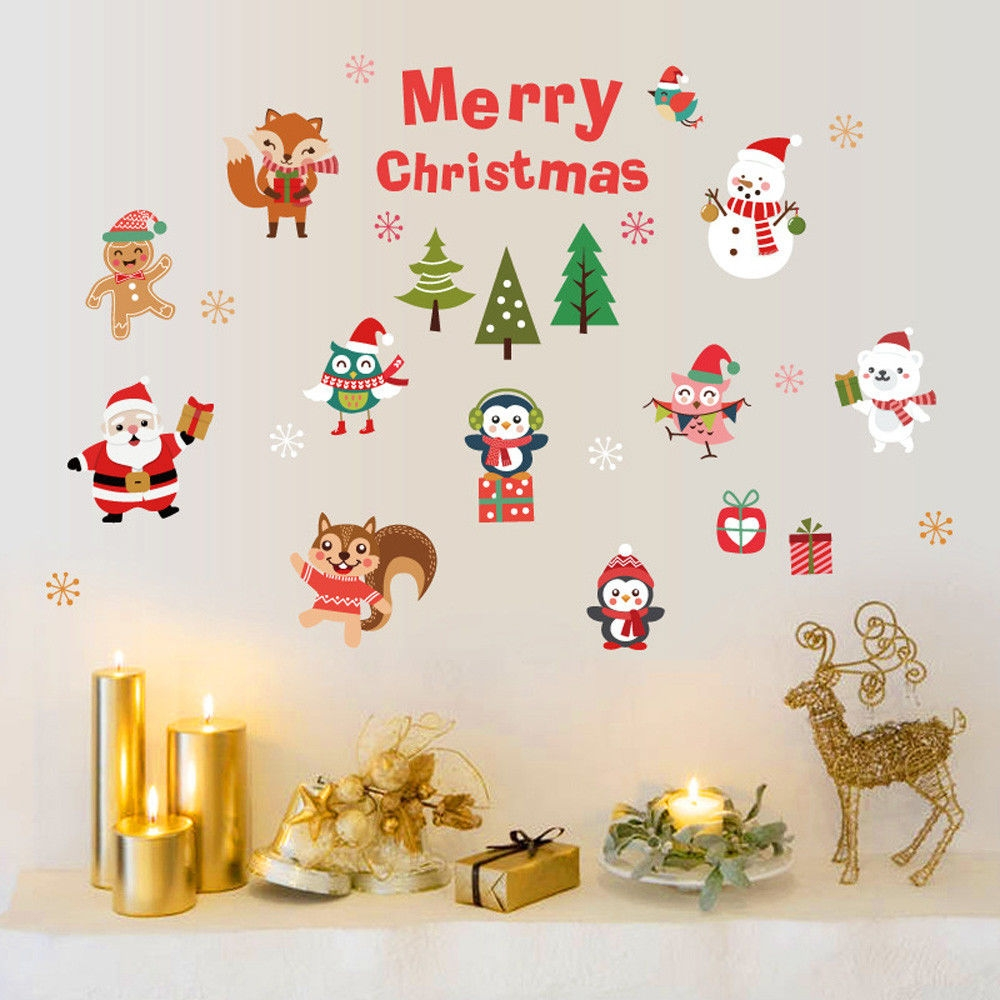Christmas Wall Decals Removable.Generic Vinyl Removable 3d Wall Sticker Christmas Tree