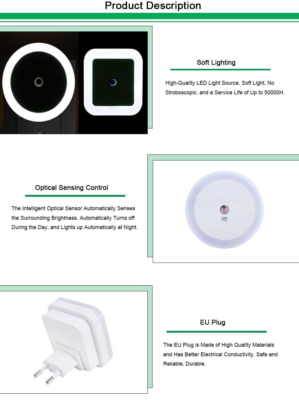 Generic LED Night Light Smart Light Control Night Light