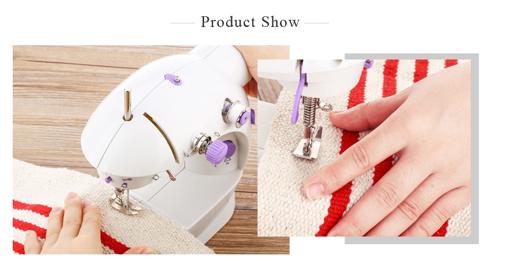 Mini Automatic Thread Sewing Machine Double Speed Control Button